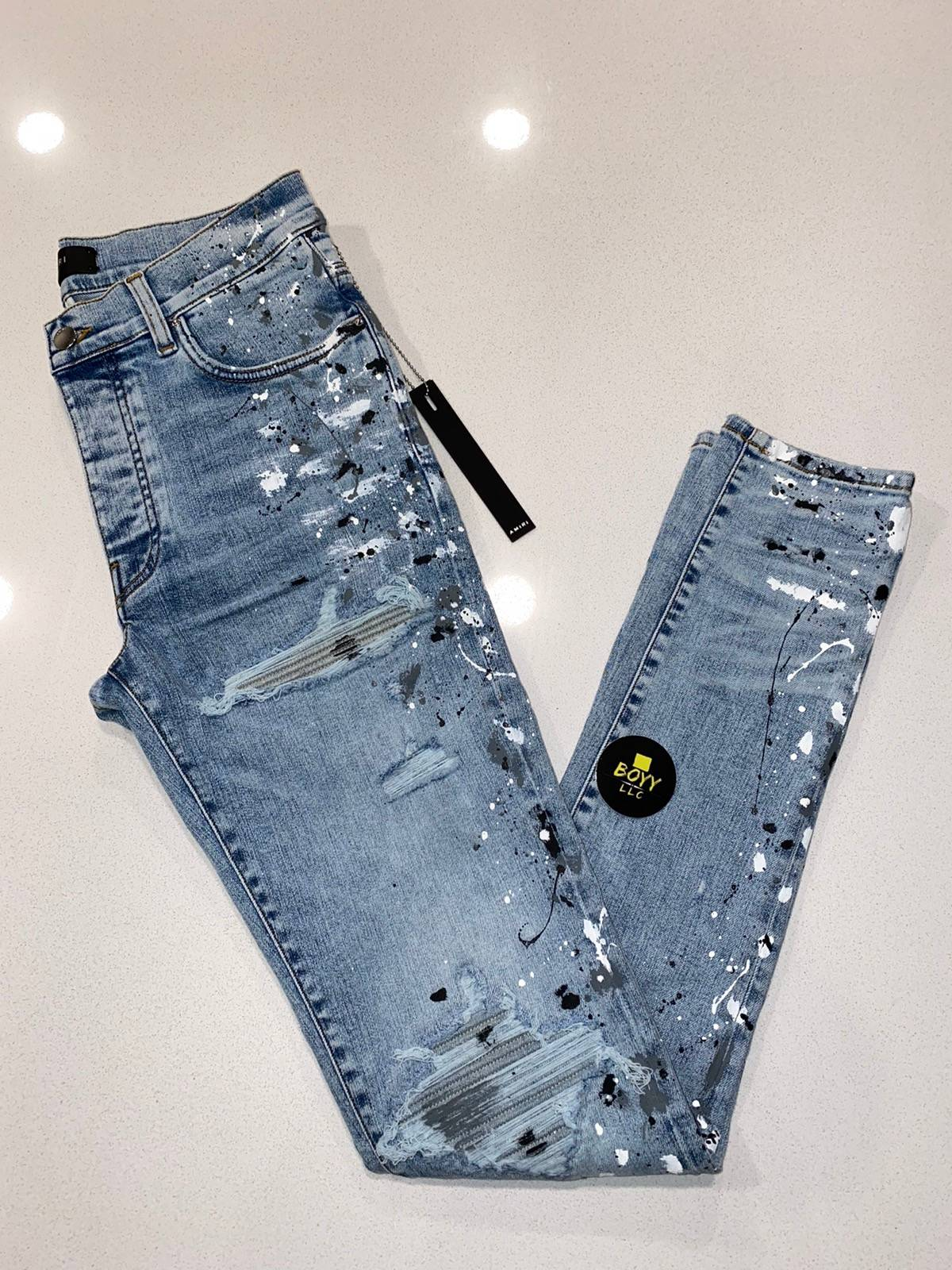 Amiri Amiri paint splatter mx10 jeans