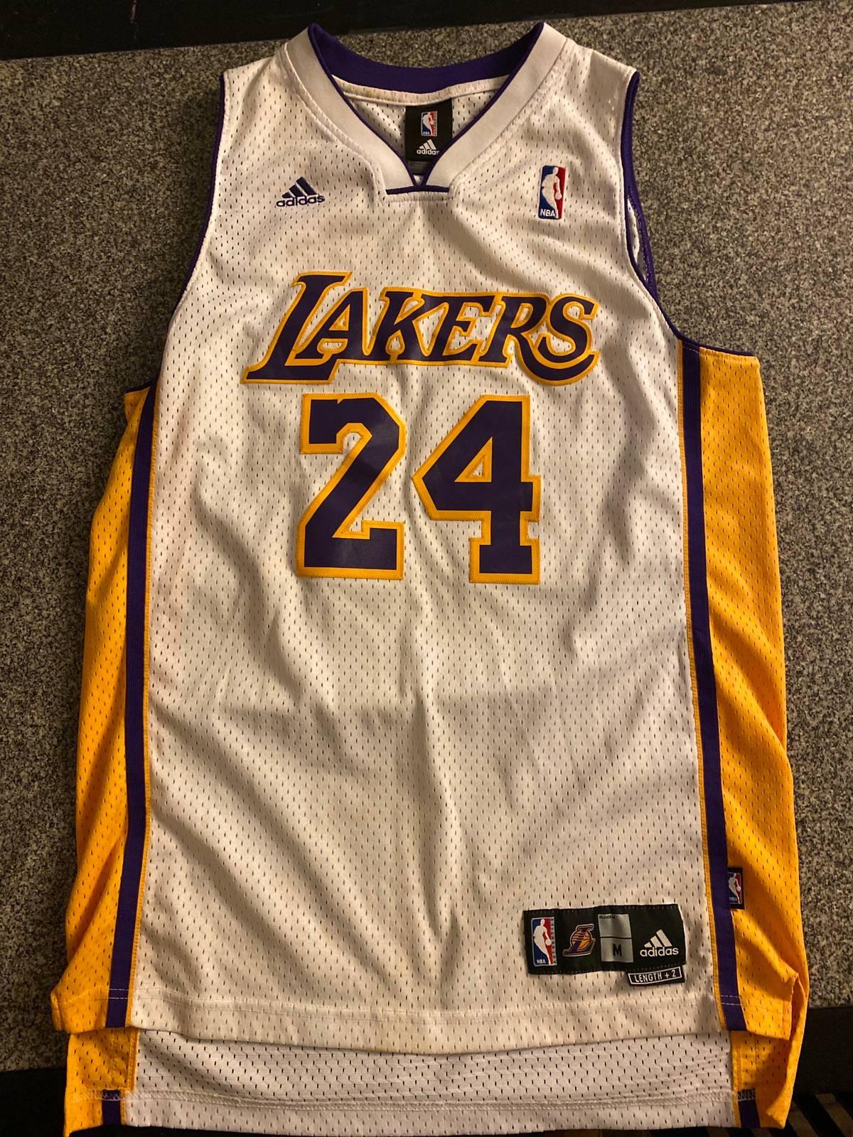 Adidas Kobe Bryant Lakers #24 White Authentic Adidas Jersey
