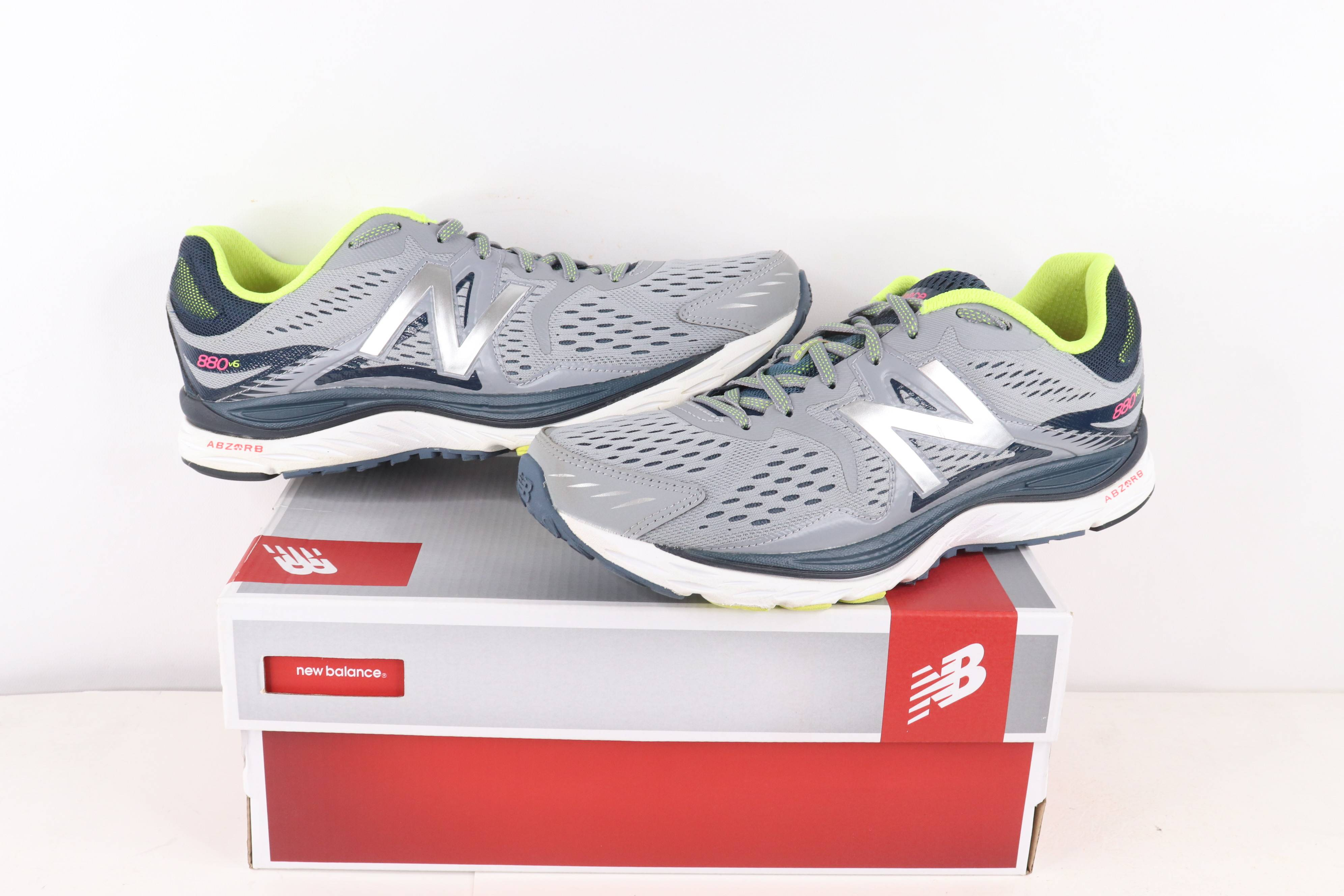 New Balance 880 v6 Gym Jogging Running Shoes Gray Size 10