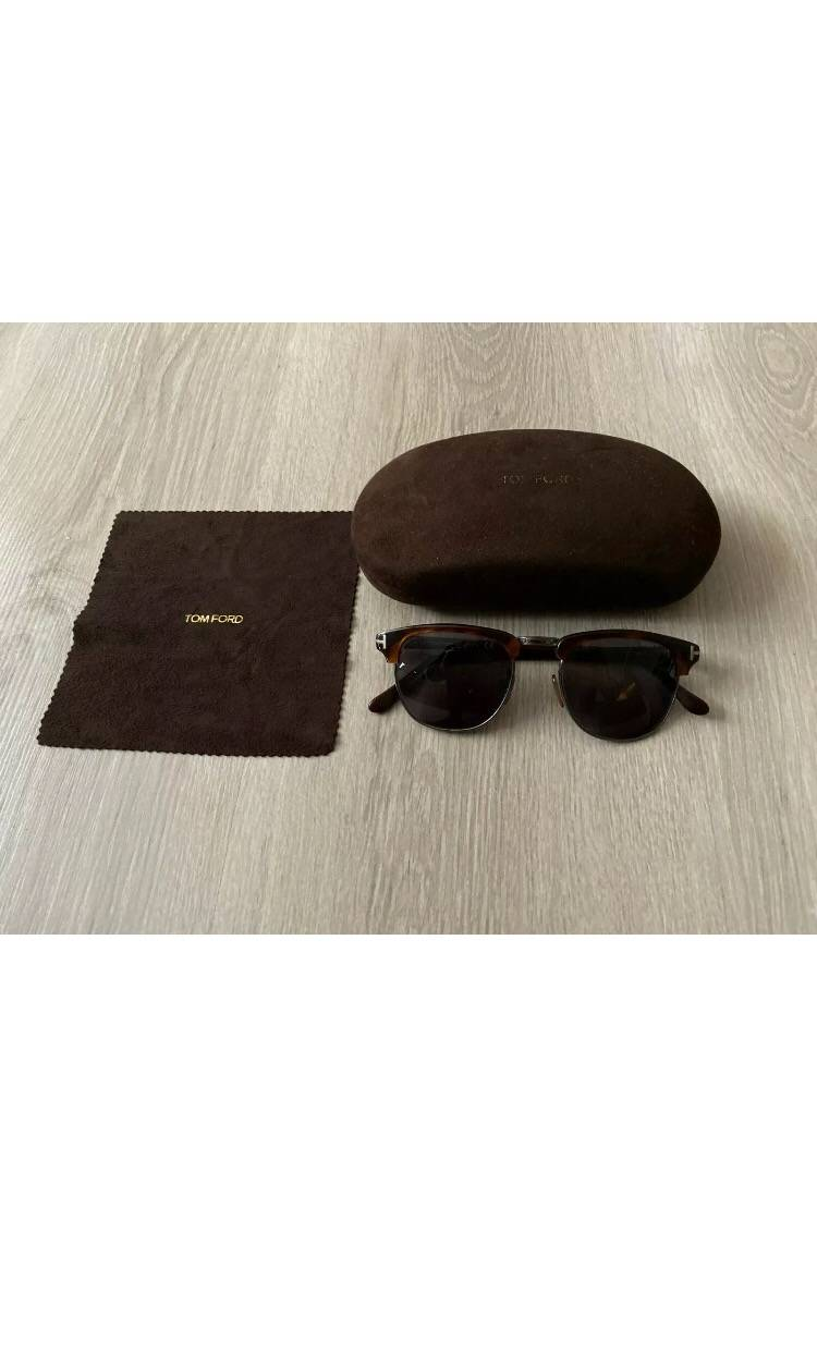 NEW Genuine TOM FORD Henry Havana Round 51MM Sunglasses TF 248 FT 0248 52A