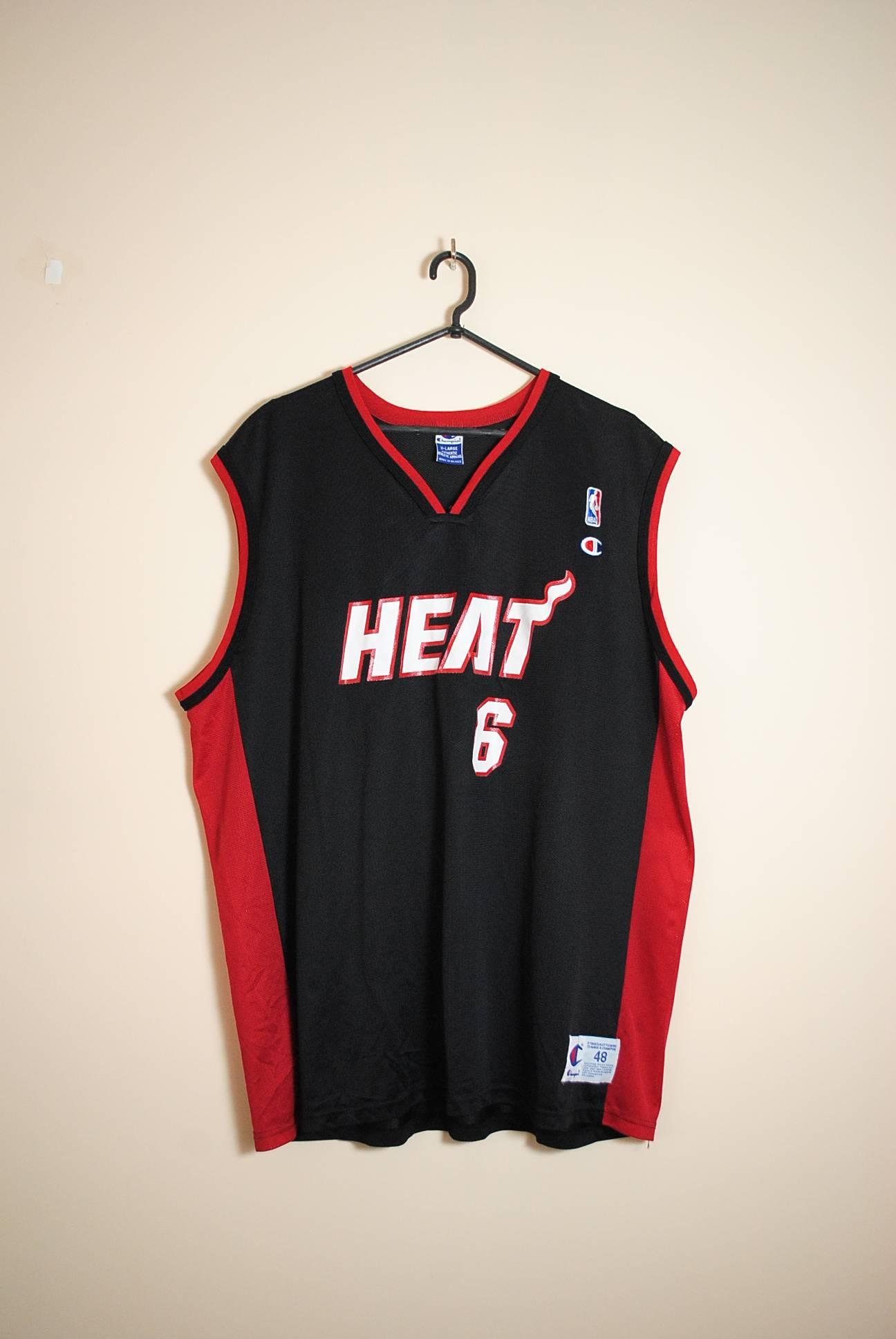 Vintage Miami Heat №6 James Jones Vintage Jersey Size XL