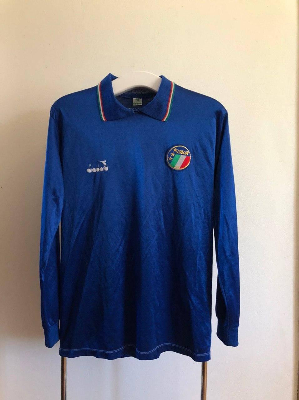 Vintage ITALY 1986 1990 FOOTBALL SOCCER JERSEY VINTAGE DIADORA