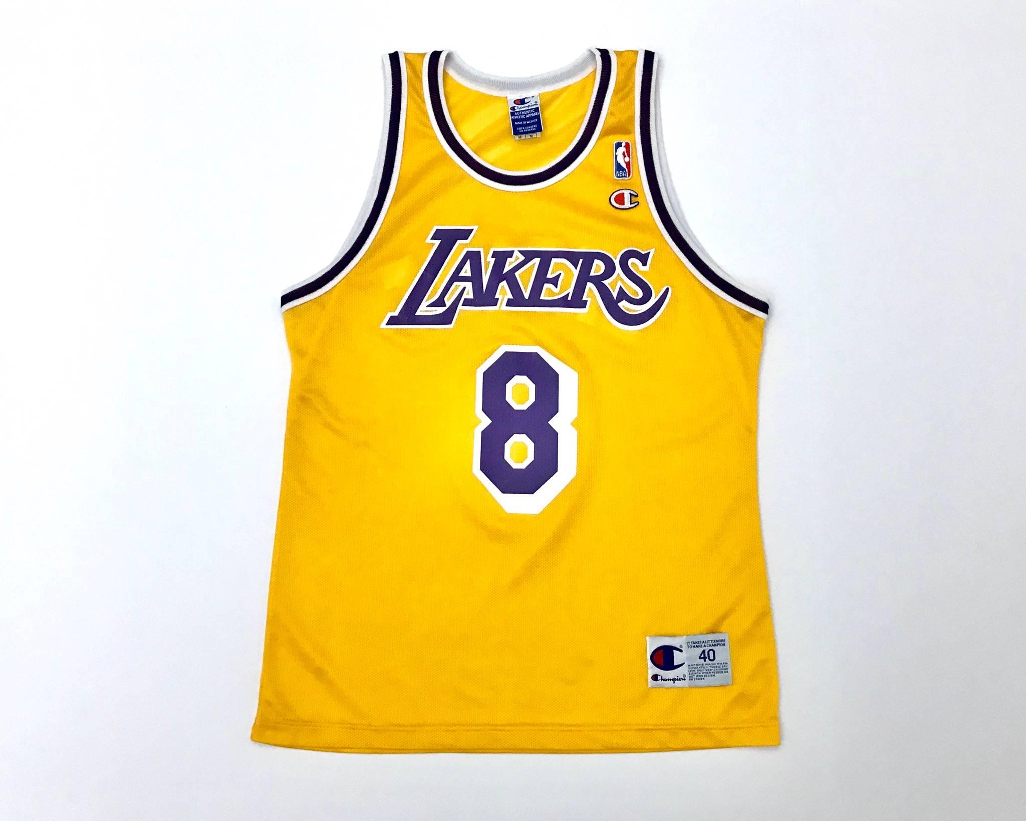 Vintage Vintage Kobe Bryant Lakers Jersey Authentic Champion Rookie