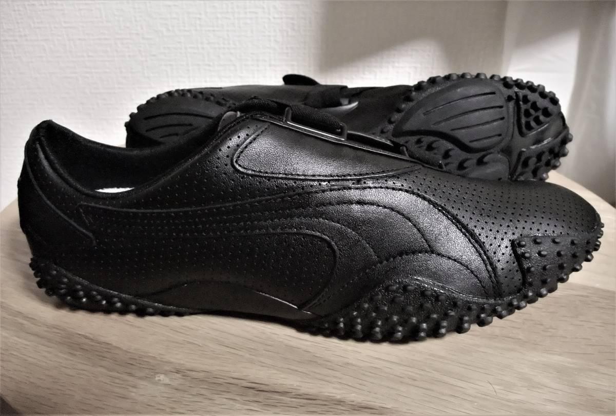 Puma Puma Mostro Perf leather all black model driving shoes MCM