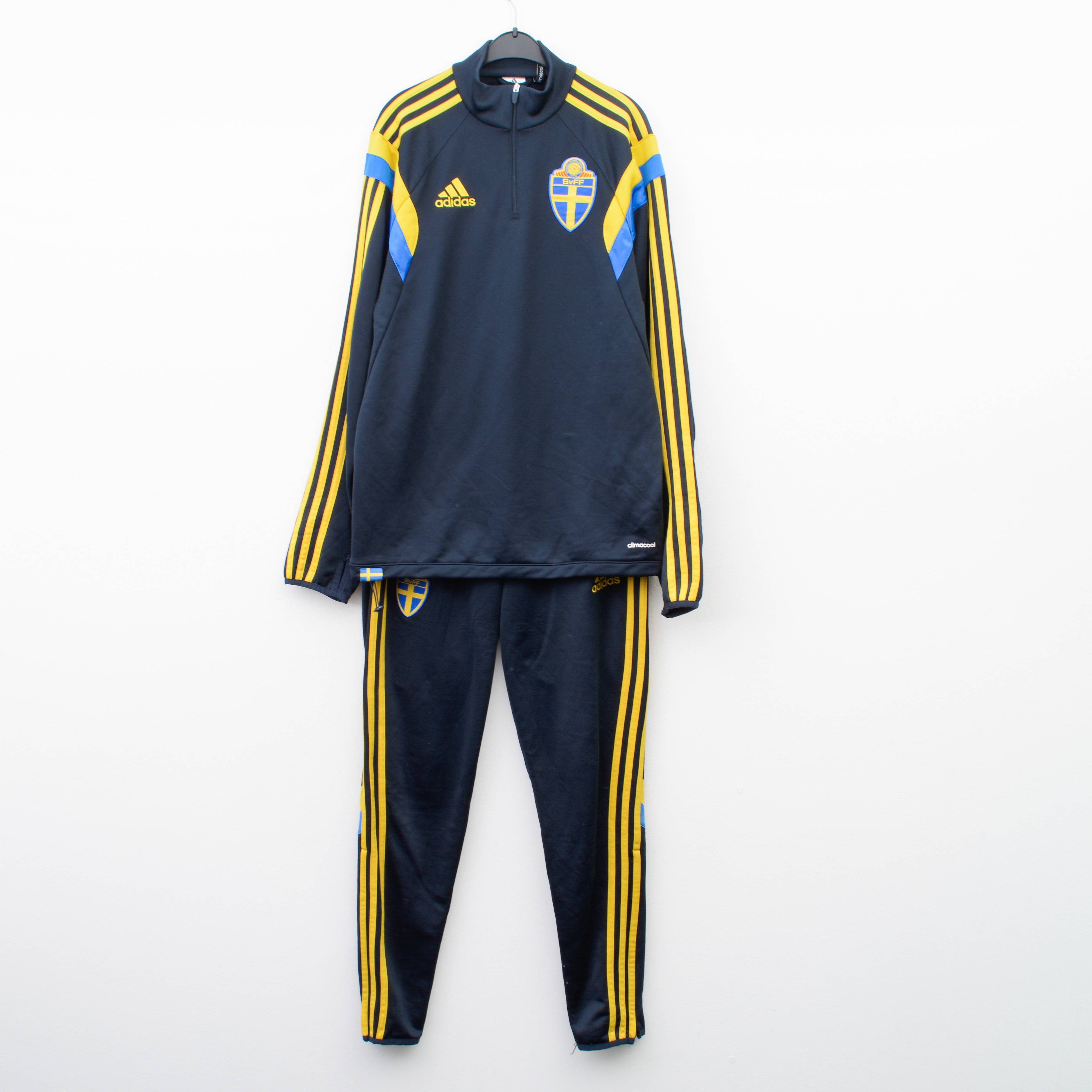 Adidas Sweden Football Full Set Tracksuit S sweatshirt pants top