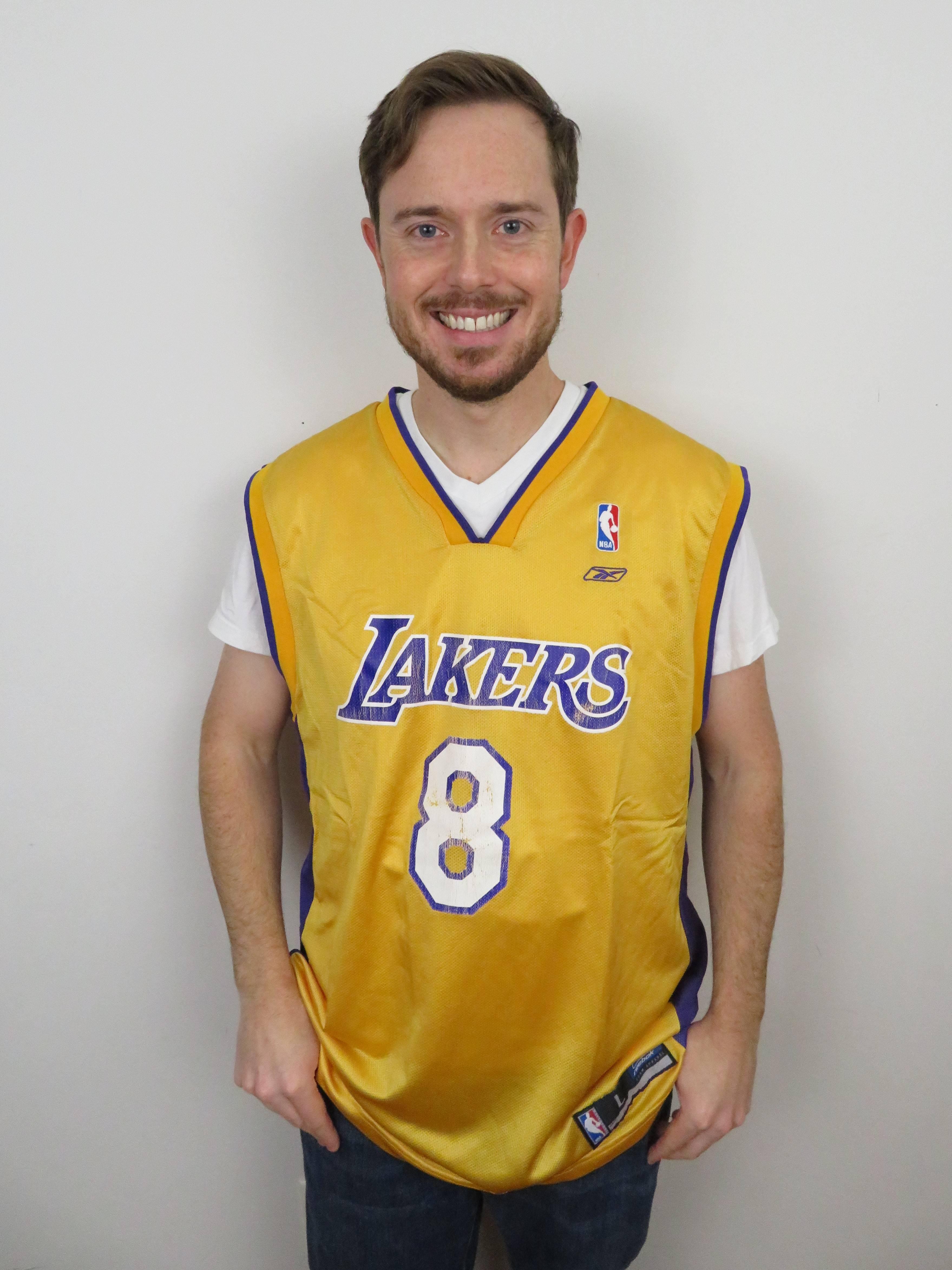 Reebok Vintage Reebok Kobe Bryant Los Angeles Lakers Jersey Mens Large 44 46 Basketball