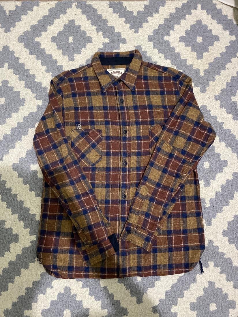 Samurai Jeans Samurai SNL20-01 Flannel Shirt in Brown Size US XXL / EU 58 / 5