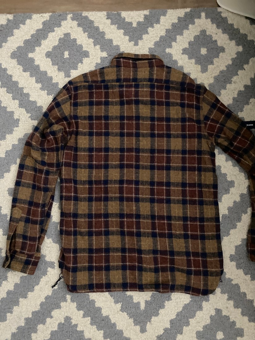 Samurai Jeans Samurai SNL20-01 Flannel Shirt in Brown Size US XXL / EU 58 / 5 - 1