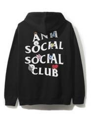 DS Anti Social Social Club ASSC x BT21 white logo Peekaboo Pink Hoodie Supreme