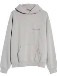 FEAR OF GOD ESSENTIALS Pullover Hoodie Applique Logo Cement New Fast Shipping