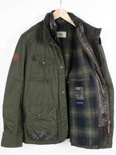 Camel active 344074 Hommes stand-up-Jacket Slub Tricot Veste Vert Dark Olive