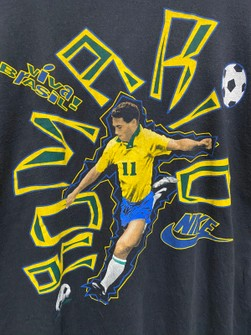 cebra Peregrino Calvo  Nike Vintage Nike Romario Grey Tag Tshirt | Grailed