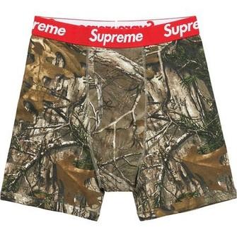 Supreme White Red Underwear Boxer Briefs Size M SINGLES ONE BOXER