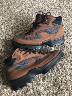 Vintage 90's Nike ACG Boots Purple Swoosh 9.5 Men