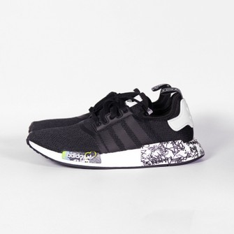 FALSO Morgue Mono  Adidas Adidas Nmd R1 Black Graffiti Sneakers Us 8.5 Eh0779 | Grailed