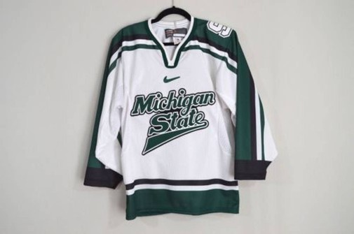 Vintage 90s Michigan State Spartans Stitched Hockey jersey