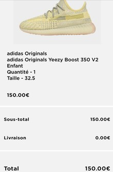 yeezy taille 37
