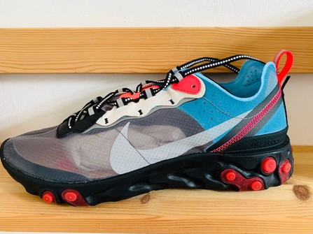 Separación Adviento Guinness  Nike React Element 87 Blue Chill Solar Red 2018 | Grailed