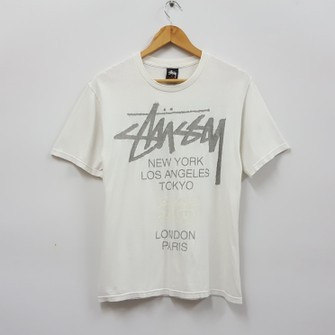 STUSSY WOMENS TRUCKER T SHIRT WHITE SIZE SMALL NEW WITH TAGS