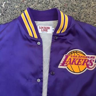 Vintage Vintage Locker Line Jacket L A Lakers Grailed