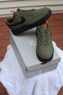Inscribirse núcleo promoción  Nike Air Force 1 '07 Medium Olive/black   Grailed