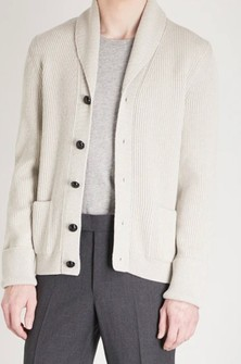Tom Ford Ivory Shawl Collar Cardigan Ribbed Wool Steve Mcqueen Grailed