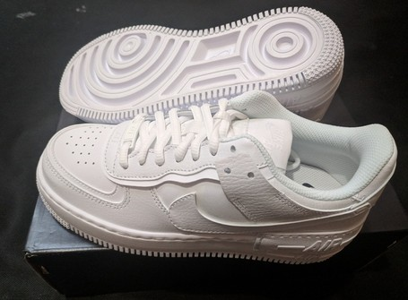 Nike Nike Women S Nike Air Force 1 Shadow Triple White Grailed