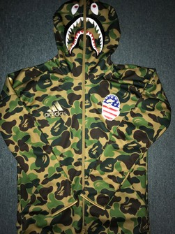 bape x adidas hoodie sizing