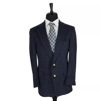Austin Reed Austin Reed Blue Wool Plaid Blazer Coat Jacket 4or Grailed