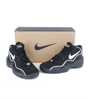 NOS Vintage 90s Nike Air Flight Basketball Shoes Black 9