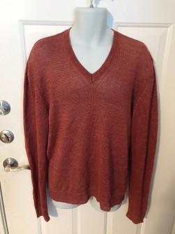 Linen V neck Sweater