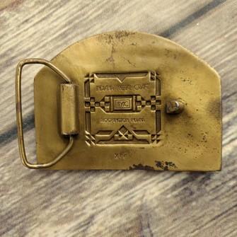 Schlitz Beer Belt Buckle 1904 St Louis Worlds Fair Vintage Indiana Metal Craft