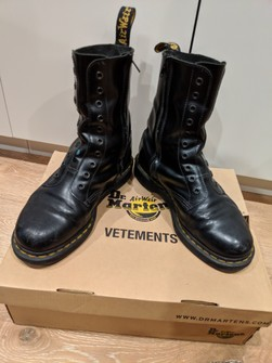 Perth Hearty clay  Vetements Vetements X Dr. Martens | Grailed