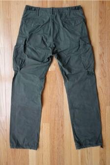 Double Ralph Lauren RRL Surplus Military Olive Green Utility Cargo Pants W33 L32