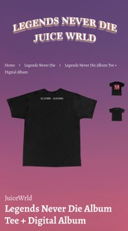 999 Club Juice Wrld Legends Never Die Cover Art Shirt Grailed