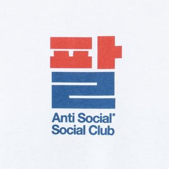DS Anti Social Social Club ASSC Blue Logo Sesame Oil White Long Sleeve Tee LS