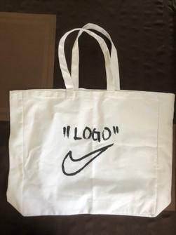 "super popular seleccione para el último Venta caliente genuino Nike ""off-campus"" Tote Bag C/o Off White X Nike X Virgil Abloh ..."