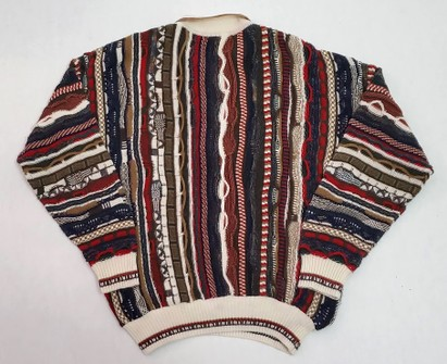 Vintage 90s Coogi Style Sweater Hiphop Biggie Snoop Dog