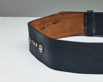 horsehide Genuine vintage belt
