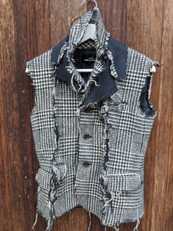 Comme Des Garcons Vintage Tricot Comme Des Garcon Sleeveless Distressed Wool Jacket Homeless Fashion Design Grailed