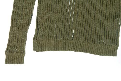 semi transparent military green sweater