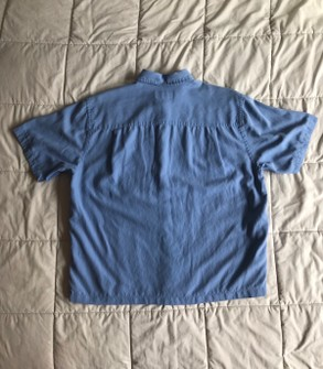 Vintage Austin Reed London Light Blue Silk Cotton Cropped Boxy Shirt Grailed
