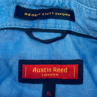 Austin Reed Austin Reed Solid Blue Dress Shirt Sz Xl Button Front Long Grailed