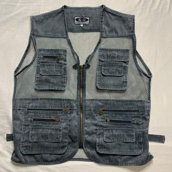 90s Denim Utility Jacket