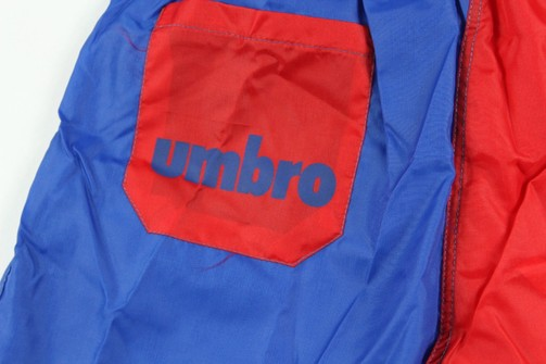 Vtg 90s New Umbro Mens Large Spell Out England World Cup Soccer Shorts Blue Red