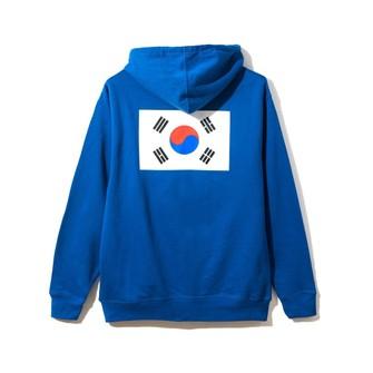 Anti Social Social Club ASSC white Logo Korean Flag The Drive Royal Blue Hoodie