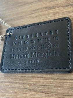 maison margiela black leather keyring logo tag grailed grailed