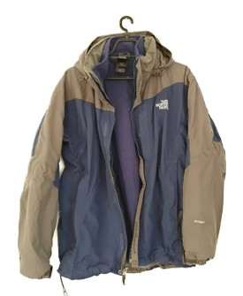 The North Face The North Face Hyvent 3 In 1 Jacket Hooded Blue Gray Size M Grailed
