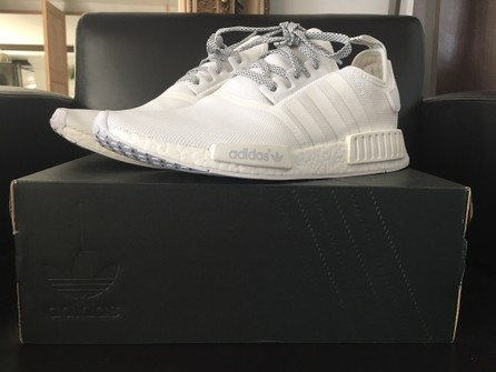 Adidas Nmd R1 Triple White Reflective Grailed