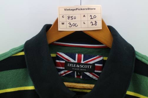 Lyle and Scott Shirt Mens Size M 90s Lyle and Scott Guam Country Club Vintage Colorblock Shirt Made in USA